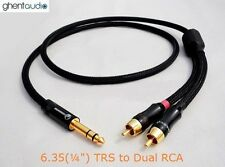 C01 (2m 6.5ft) --- 6.35mm Jack (1/4') TRS(male) to Dual(2) RCA/Phono(m) 4N-OFC