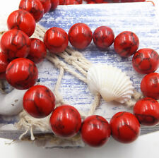 6mm 15pcs Red Turquoise Natural Gemstone Round Spacer Loose Beads Scattered