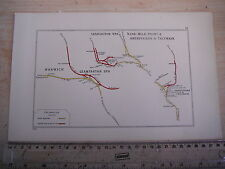 ABERSYCHAN TALYWAIN LEAMINGTON WARWICK NINE MILE POINT RISCA RAILWAY MAP 1928