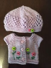 Hand Knit Sweater and Hat For Dianna Effner Little Darling 13""
