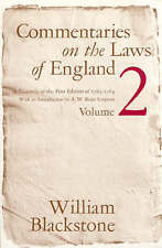 Commentaries on the Laws of England: v.2 by Sir William Blackstone...