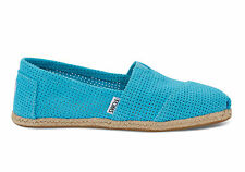 NEW Authentic Toms Women Classic Turquoise Freetown Slip-On Shoe, Size 12