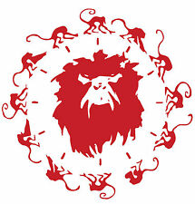 12 MONKEYS STICKER DARK RED