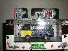 1/64th M2 Machines Wild Cards 1965 Ford Econoline Van Custom Black w/Flames
