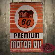 Phillips66 Motor oil Cartel Metalico Gasolina Garage Retro Vintage colleccion