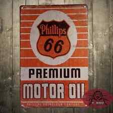 Phillips66 Motor oil Cartel Metalico Gasolina Garage Retro Vintage colleccion