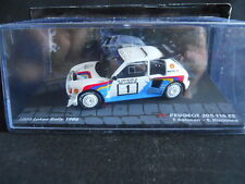 Rally Model Car IXO 1:43 PEUGEOT 205 T16 E2 1000 Lakes Rally 1986 T. Salonen