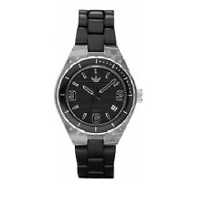 NEW ADIDAS BLACK ALUMINUM STRAP MINI CAMBRIDGE WATCH-ADH2536