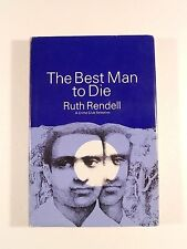 Ruth Rendell, The Best Man to Die, 1969; U.S. First Edition in DJ; Wexford #4