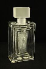 Lalique Frosted Art Glass Flacon Duncan #3 Perfume Bottle 11381 France 7-3/4""