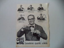 advertising Pubblicità 1966 CAFFE' HAG
