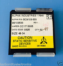 SC9103-533 ALPHA INDUSTRIES CAPACITOR CHIP RF MICROWAVE PRODUCT 40/units total