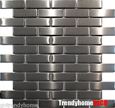 10SF- Stainless Steel Brick Subway Mosaic Tile Kitchen Backsplash Sink Wall Pool