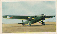 N°258 Czech Aircraft Bomber Avia BH 39 World War Germany WWI 30s CHROMO
