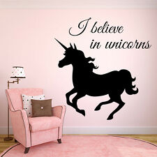 Wall Room Decor Vinyl Sticker Mural Decal Nursery Girl Pony Unicorn Magic F2225