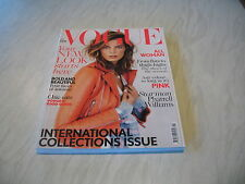 Vogue magazine # 2013 September UK issue Daria Werbowy cover by DeMarchelier