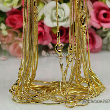 """Wholesale!10pcs gold plated 1.2mm snake chain necklace 24"""""""