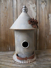 "Vintage-Look Industrial Galvanized & Rust  BIRDHOUSE Bird House Hanging 12"" x 6"""
