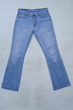 LEVIS 529 LADIES VTG Faded Frayed Bootcut Blue Denim Jeans Red Tab W30 L34 Uk12