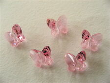 8 Light Rose Swarovski Crystal Butterfly Beads 5754 6mm