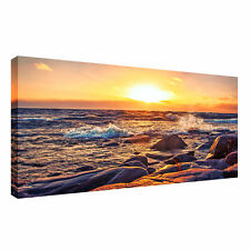 Large beach,sea,sunset sky,water landscape A1   20x30 inch Canvas Wall  Picture