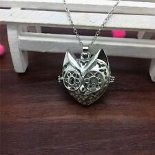 Perfume Fragrance Essential Oil Aromatherapy Diffuser Locket Cat Necklace EB119