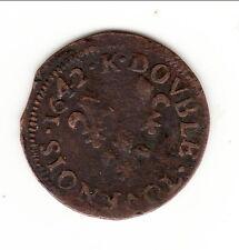 LOUIS XIII BEAU DOUBLE TOURNOIS 1642 BORDEAUX   a voir !!