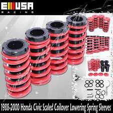 Honda Civic 88-91/92-95/96-00  Coilover Lowering Coil Springs Set RED/BLACK