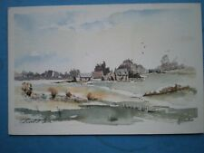 POSTCARD WORCESTERSHIRE COTSWOLD FARM  WATERCOLOUR