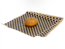 50ct Black Tan Checkered Wrap Food Basket Liners 12x12 Deli Bakery Tissue Sheets