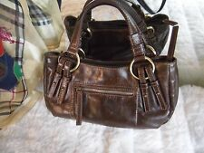 TULA by RADLEY Brown distressed LEATHER slouch style HANDBAG / SHOULDER BAG