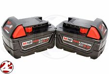New Milwaukee 48-11-1852 M18 Red Lithium XC 5.0 Battery 48-11-1850 (2 Pack)