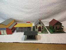 LOT OF 4 HO BUILDINGS AS IS GOOD FOR PARTS OR RESTORATION