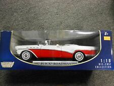 Motor Max 1957 Buick Roadmaster Red/White (Die-cast - 1:18 Scale)