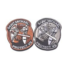 Saint Micheal Badger Military Tactical Army Morale Combat Multicam Patch MC