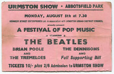 THE BEATLES *1963* original very rare concert ticket urmston show HARD TO FIND