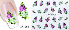 3D Flower Water Transfer Nail Sticker Manicure Decal Art Tips Decoration #XF1052