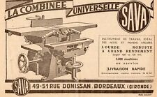 SAVA COMBINEE UNIVERSELLERUE DONISSAN BORDEAUX PUBLICITE 1951 FRENCH AD