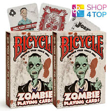 2 DECKS BICYCLE ZOMBIE PLAYING CARDS MAGIC FUNNY ZOMBIES APOCALYPSE HALLOWEEN