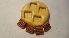 MINIATURE WAFFLES Silicone Mold-polymer clay, wax, fondant, resin