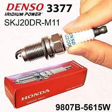 4x HONDA OEM 9807B-5615W LASER IRIDIUM Spark Plug DENSO 3377 SKJ20DR-M11