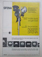 9/1972 PUB SFENA VELIZY GYROSCOPIC HORIZON GYRO PILOT HELMET ORIGINAL AD