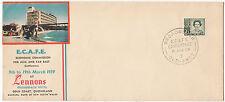 Lennons Hotel souvenir cover 1959 ECAFE Broadbeach Queensland 3&1/2d QE2 stamp