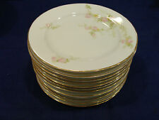 Royal Bayreuth Bavaria Fine China Antique Bread Plates (12) Pink Roses
