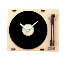 Wood Retro Turn table Clock Assembly Kit Korean Desk Bedside Home office wall