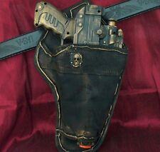 Steampunk gothic Gun Holster Belt Victorian Victorian pistol LASER toy Zombie