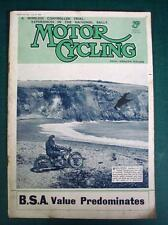 MOTOR CYCLING MAGAZINE 27 JUL 1938 - Brooklnads' New 500cc Lap Record Velocette