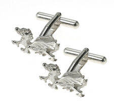 Sterling Silver Welsh Dragon Cufflinks Made To Order in Jewellery Quarter B'ham
