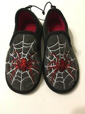 Spider-Man Slipper Shoes Boys Size Small 11/12 Gray