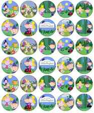 30x Ben and Holly Little Kingdom Cupcake Toppers Edible Paper Fairy Cake Toppers